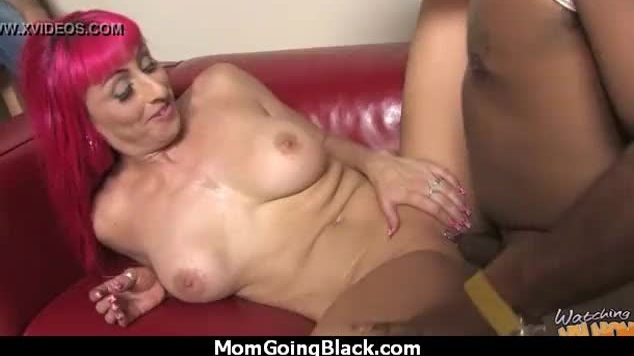 Hot milf mom make a blowjob and ride a big black cock interracial 28
